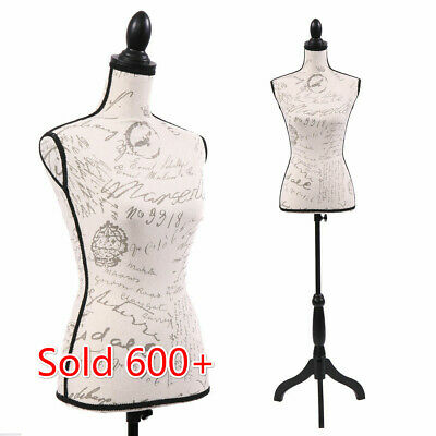 Female Mannequin Torso Dress Form Display Pattern Wblacktripod Stand Adjustable