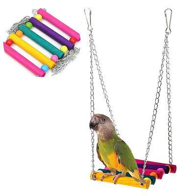 Pet Bird Parrot Parakeet Budgie Cockatiel Cage Hammock Swing Hanging Toys UStock