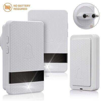 No Battery Required Wireless Doorbell IP55 Waterproof Door Bell 2019 Upgraded