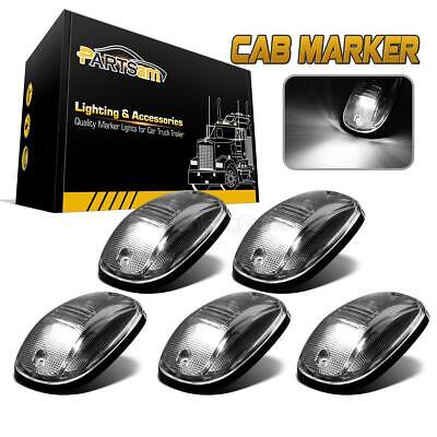5x264146CL White LED Cab Roof Marker Running Lights Clear Lens For Truck SUV 4x4