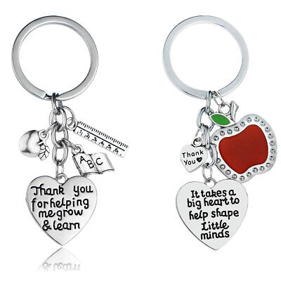 Keychain Apple Teacher Gifts Key Chains Thank You Appreciation Gift Charm