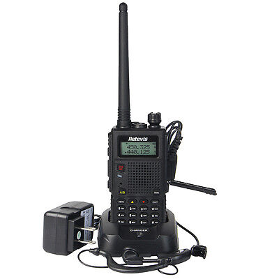 (Handheld Retevis RT5 Walkie Talkie Dual Band Two Way FM Radios Transceiver Alarm)
