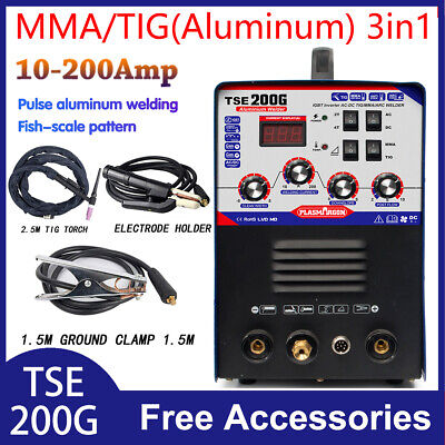 Tse200g Aluminum Welder Acdc Tigmma 3 In 1 Welding Machine 220v15
