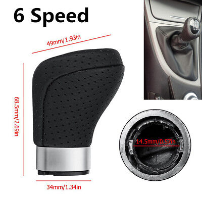 For BMW 1 3 Series E87 E90 E91 E92 Plastic&PU Leather 6Speed Car Gear Shift Knob