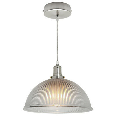 Modern Vintage Industrial Retro Loft Glass Ceiling Lamp Shade Pendant Light 014C