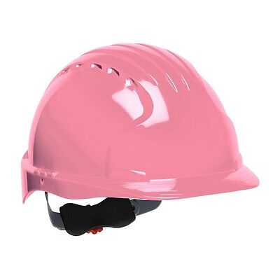 Jsp Hard Hat Pink Cap Style With 6 Point Ratchet Suspension
