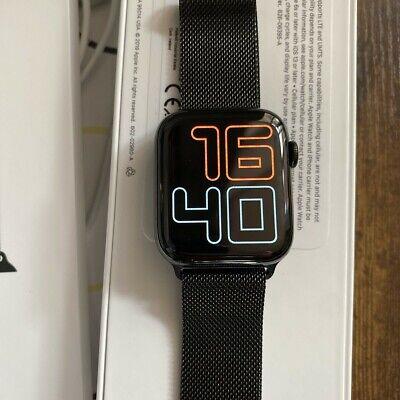 Apple Watch Series 5 44mm Case with MilaneseLoop - Stainless Steel (GPS +...