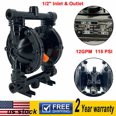 Air-operated Double Diaphragm Pump 12 Inlet Outlet Petroleum Fluids 12gpm Us