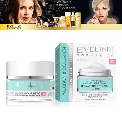 Eveline Hyaluron Collagen 30+ Anti Wrinkle Day & Night Moisturising Cream 50ML