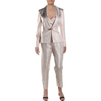 Ieena for Mac Duggal Womens Pink Metallic 2PC Jumpsuit Pant Suit 16 BHFO 0616