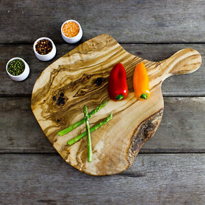 Rustic Olive Wood Chopping / Serving / Cheese Board - Length 40cm (CPH402nds))