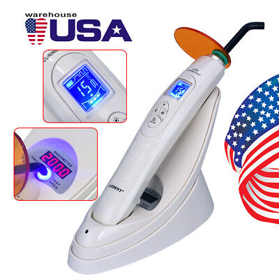 Dental Led Curing Light Wireless Handpiece With Light Test Meter 2000 Mwcm