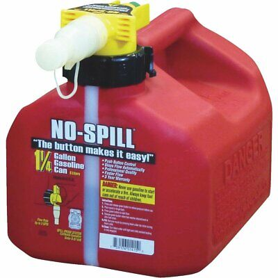 No-spill 1-14 Gal. Plastic Gasoline Fuel Can - New - Free Shipping