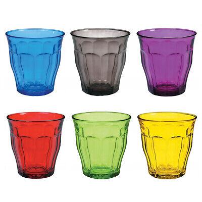 Duralex Conjunto De 6 Picardie Vasos, Colores 25cl Pequeño Bebidas Gafas