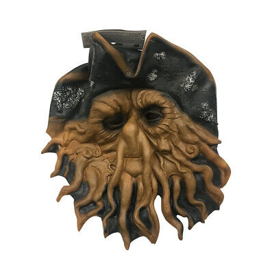 Ocean Mask - Pirate Squid Mask Davy Jones Pirates of the Caribbean Cthulu Octopus Sea Costume