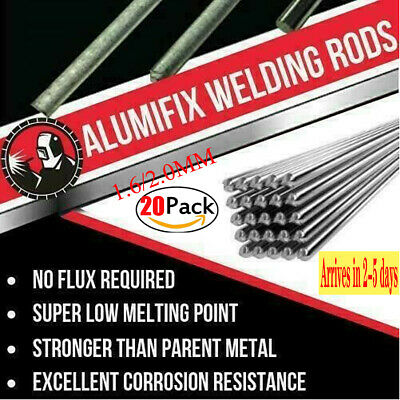 20pc 1.62.0mm Easy Aluminum Solder Melt Welding Flux Cored Rods Wire Brazing