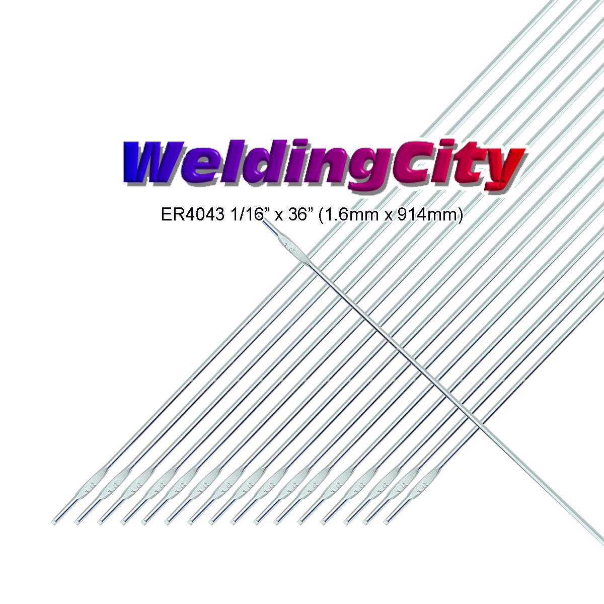TIG Aluminum Welding Rod 36 x 0.045 S/ÜA 2 lb. Pack ER5356