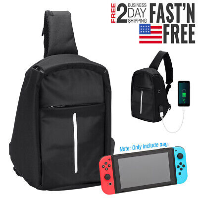For Nintendo Switch Backpack Travel Bag Protective Carrying Case USB Charging