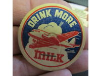 WAR BONDS Drink More Milk B-52 Bomber 56mm milk bottle cap WORLD WAR 2 WWII
