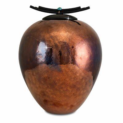 Large/Adult 220 Cubic Inch Elegant Raku Funeral Cremation Urn for Ashes