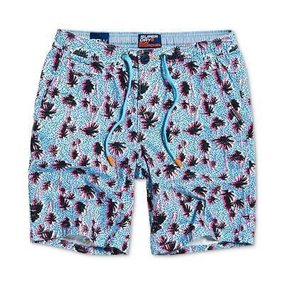 Superdry Mens Sunscorched Blue Printed Bermuda Khaki, Chino Shorts 36 BHFO 9077