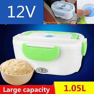 Car 1.05L 12V Electric Heated Car Plug Heating Lunch Box Food Warmer Container