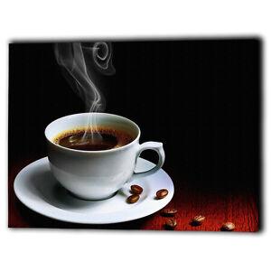 TAZZA di Caffè Caldo Bevanda tela negozio PANNELLO Incorniciato ...