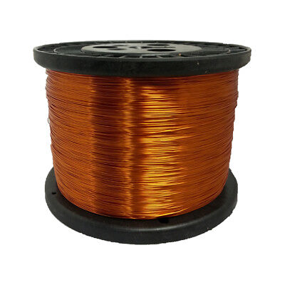 28 Awg Gauge Enameled Copper Magnet Wire 10 Lbs 19872 Length 0.0142 200c Nat
