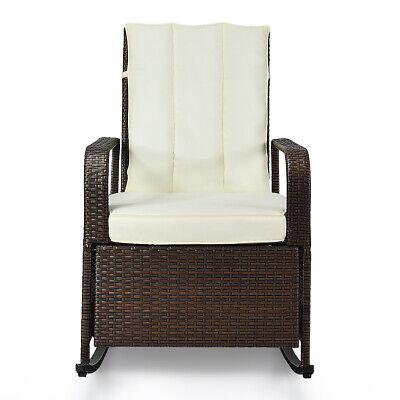 patio wicker rocking chair auto adjustable recliner