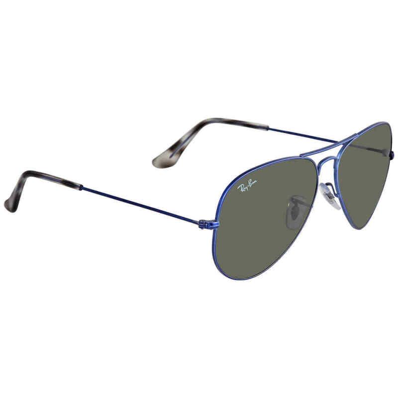 Ray Ban Unisex Green Aviator Sunglasses RB3025 918731 58