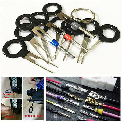 11pcs Car Plug Circuit Board Wire Harness Terminal Extractor Pick Connector Tool for sale  Los Angeles