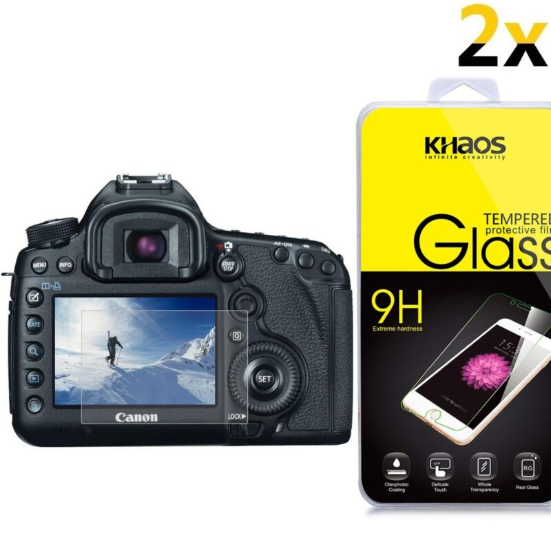 [2-Pack] KS Glass Screen Protector For Canon 5D Mark III, 5D Mark IV, 5DS 5DS