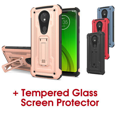 Motorola G7 Power E5 Play case and screen protector -  protective phone cover