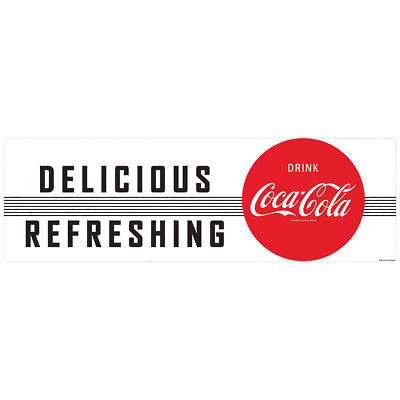 Delicious Refreshing Drink Coca-Cola 1950s Wall Decal Restaurant Kitchen Decor