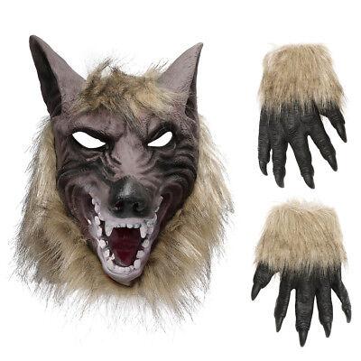 Werwolf Maske Halloween (Werwolf Maske für Halloween Karneval Werwolfmaske Latex Tier Wolf Kostüm)