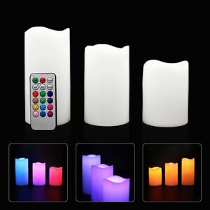 3pc LED Flameless Candles 4