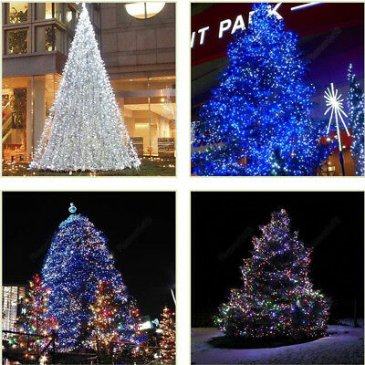 56ft Solar Powered 100LED Christmas Party Indoor Outdoor Fairy String Light Blue ()