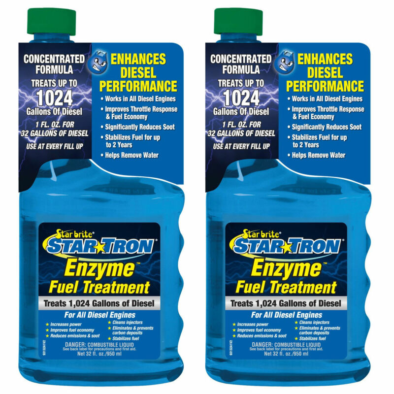 2-Pack Star Tron Enzyme 32oz Fuel Treatment Super Concentrated Diesel Formula