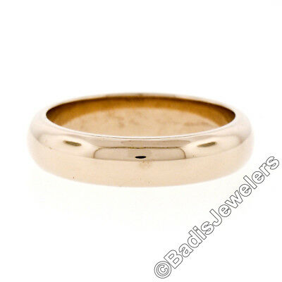 Vintage Classic Plain 18K Yellow Gold 4.7mm Domed Polished Wedding Band (18k Yellow Gold Plain Dome)