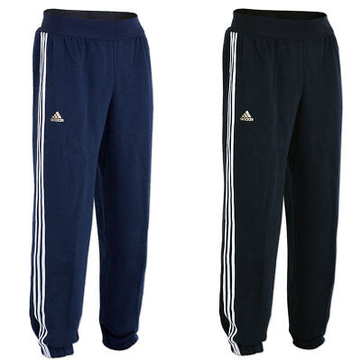 adidas Herren Trainingshose Fußballhose Jogginghose Sweat Hose Pant blau schwarz