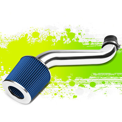 ALUMINUM ENGINE AIR INTAKE PIPE SYSTEM KIT+BLUE FILTER FOR 90-93 HONDA ACCORD Aluminum Accord Intake System