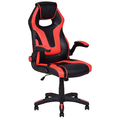 Executive High Back Gaming Chair Race Style Pu Leather Computer Office Chair