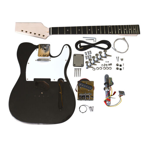 Coban Guitars Electric Guitars DIY Kit TLMB Pre Painted Metallic Black White P/G