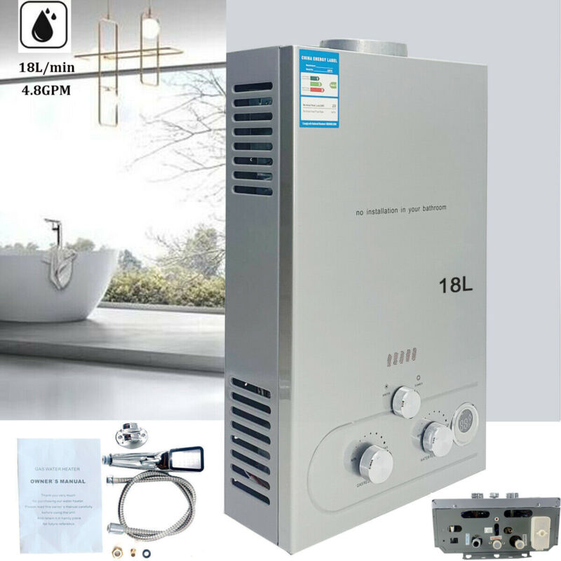 Portable LPG Propane Gas Hot Water Heater 18L Tankless Instant Indoor Outdoor RV