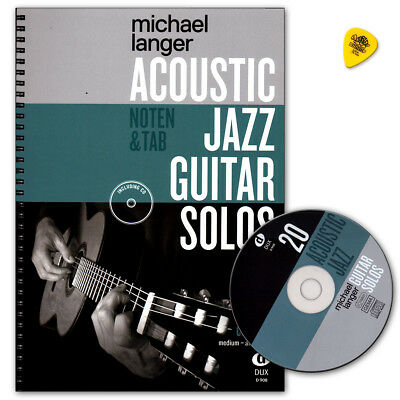 Acoustic Jazz Guitar Solos mit CD - Michael Langer - DUX908 - 9783868493191