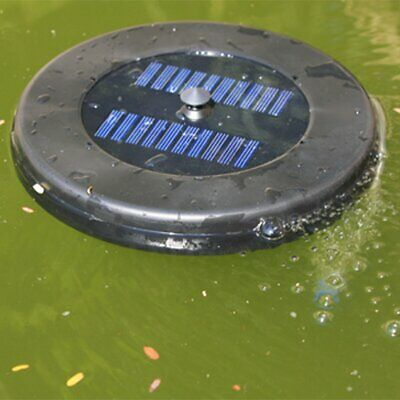 Floating solar oxygenator for garden pond