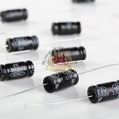 Non-polarized Electrolytic Audio Capacitor 3.3uf 100v 10pk Free Shipping