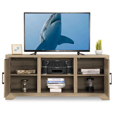 Rustic TV Stand Entertainment Center Farmhouse Console Storage Wood Cabinet New