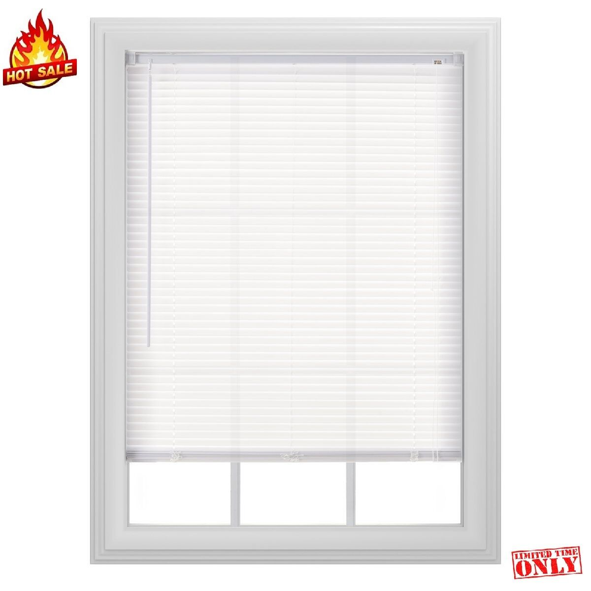 White Window Blind Venetian Cover Shade PVC Curtain Sun Shutter Screen 32 Sizes