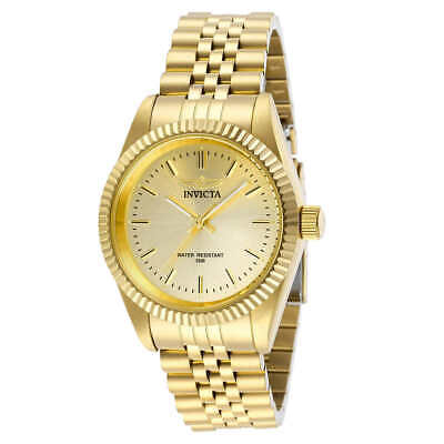 Invicta Specialty 32136 Unisex 36mm Gold Tone Stainless Steel Watch NWT